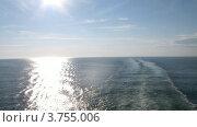 Купить «След от корабля и солнечная дорожка на воде, таймлапс», видеоролик № 3755006, снято 19 августа 2011 г. (c) Losevsky Pavel / Фотобанк Лори