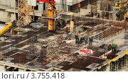 Купить «Строительство дома», видеоролик № 3755418, снято 10 ноября 2011 г. (c) Losevsky Pavel / Фотобанк Лори
