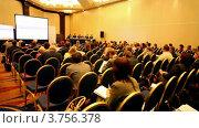 Купить «Аудитория на презентации на Международном налоговом конгрессе TaxExpo-2010», видеоролик № 3756378, снято 15 октября 2011 г. (c) Losevsky Pavel / Фотобанк Лори