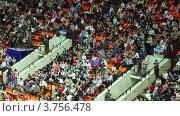 Купить «Болельщики», видеоролик № 3756478, снято 24 августа 2011 г. (c) Losevsky Pavel / Фотобанк Лори