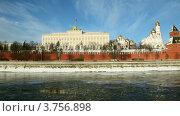 Купить «Стена Московского Кремля», видеоролик № 3756898, снято 17 сентября 2011 г. (c) Losevsky Pavel / Фотобанк Лори