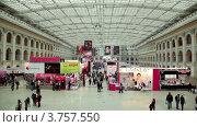 Купить «Панорама выставочного зала на XVII Международном фестивале Мир красоты 2010», видеоролик № 3757550, снято 30 сентября 2011 г. (c) Losevsky Pavel / Фотобанк Лори