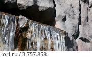 Купить «Водопад и влажные камни крупным планом», видеоролик № 3757858, снято 10 ноября 2011 г. (c) Losevsky Pavel / Фотобанк Лори