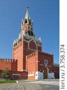 Купить «Спасская башня Московского Кремля», эксклюзивное фото № 3758374, снято 3 августа 2012 г. (c) Елена Коромыслова / Фотобанк Лори