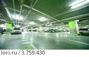 Купить «Машина едет по подземной парковке», видеоролик № 3759430, снято 15 мая 2011 г. (c) Losevsky Pavel / Фотобанк Лори