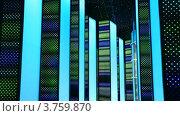 Купить «Ночной клуб, интерьеры в виде светящегося ночного города», видеоролик № 3759870, снято 12 октября 2011 г. (c) Losevsky Pavel / Фотобанк Лори