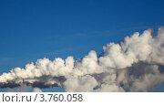 Купить «Дымящие заводские трубы», видеоролик № 3760058, снято 1 сентября 2011 г. (c) Losevsky Pavel / Фотобанк Лори