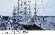 Купить «Российский и Польский корабли стоят рядом, таймлапс», видеоролик № 3760494, снято 17 августа 2011 г. (c) Losevsky Pavel / Фотобанк Лори