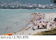 Купить «Современные пляжи Геленджика», фото № 3761870, снято 18 августа 2012 г. (c) Игорь Архипов / Фотобанк Лори