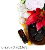 Купить «Натюрморт с предметами для спа-процедуры», фото № 3762678, снято 3 августа 2012 г. (c) Наталия Кленова / Фотобанк Лори