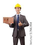 Купить «Строитель хвалит кирпич», фото № 3766954, снято 22 мая 2012 г. (c) Elnur / Фотобанк Лори