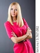 Купить «Блондинка в красном платье», фото № 3767082, снято 6 июля 2012 г. (c) Elnur / Фотобанк Лори