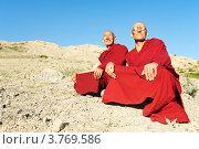 Купить «Два индийских тибетский монаха Лама», фото № 3769586, снято 1 июля 2012 г. (c) Дмитрий Калиновский / Фотобанк Лори