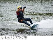 Купить «Катание на водной доске», фото № 3770078, снято 29 июля 2012 г. (c) Александр Лядов / Фотобанк Лори