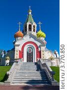Купить «Собор Игоря Черниговского в Переделкино», эксклюзивное фото № 3770850, снято 22 августа 2012 г. (c) Lora / Фотобанк Лори