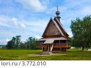 Купить «Город Суздаль, деревянная Никольская церковь на территории кремля», фото № 3772010, снято 27 июня 2011 г. (c) ElenArt / Фотобанк Лори