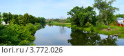 Купить «Панорама Суздаля, река Каменка», фото № 3772026, снято 22 сентября 2019 г. (c) ElenArt / Фотобанк Лори