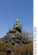 Купить «Памятник Минамото Ёритомо в горах г. Камакура, Япония», фото № 3772970, снято 9 апреля 2012 г. (c) Иван Марчук / Фотобанк Лори