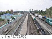 Железнодорожная станция Суровикино (2012 год). Редакционное фото, фотограф Александр Аникеев / Фотобанк Лори