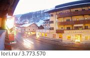 Купить «Отель Тироль в Зольдене, Австрия, таймлапс», видеоролик № 3773570, снято 2 марта 2012 г. (c) Losevsky Pavel / Фотобанк Лори