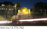 Купить «Венский сецессион вечером, таймлапс», видеоролик № 3773762, снято 3 марта 2012 г. (c) Losevsky Pavel / Фотобанк Лори