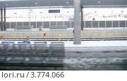 Купить «Поездка по железной дороге, таймлапс», видеоролик № 3774066, снято 4 марта 2012 г. (c) Losevsky Pavel / Фотобанк Лори