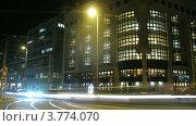 Купить «Трамваи и автомобили идут мимо здания библиотеки, таймлапс», видеоролик № 3774070, снято 4 марта 2012 г. (c) Losevsky Pavel / Фотобанк Лори