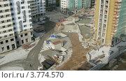 Купить «Строительство многоэтажного жилого дома, таймлапс», видеоролик № 3774570, снято 24 января 2012 г. (c) Losevsky Pavel / Фотобанк Лори