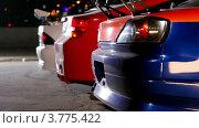 Купить «Три спортивных автомобиля», видеоролик № 3775422, снято 16 января 2012 г. (c) Losevsky Pavel / Фотобанк Лори