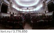 Купить «Люди занимают свои места в зале(таймлапс)», видеоролик № 3776850, снято 4 марта 2012 г. (c) Losevsky Pavel / Фотобанк Лори