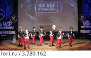 "Купить «Хип-хоп группа ""Forse Boom"" танцует на сцене Дворца Культуры, таймлапс», видеоролик № 3780162, снято 16 апреля 2012 г. (c) Losevsky Pavel / Фотобанк Лори"