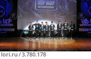 "Купить «Хип-хоп группа ""Tsu-namicrew"" танцует на сцене Дворца Культуры, таймлапс», видеоролик № 3780178, снято 16 апреля 2012 г. (c) Losevsky Pavel / Фотобанк Лори"