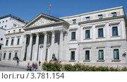 Купить «Здание парламента в Мадриде, таймлапс», видеоролик № 3781154, снято 20 апреля 2012 г. (c) Losevsky Pavel / Фотобанк Лори