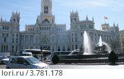 Купить «Здание почтамта в Мадриде, таймлапс», видеоролик № 3781178, снято 20 апреля 2012 г. (c) Losevsky Pavel / Фотобанк Лори