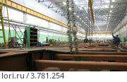 Купить «Завод Метровагонмаш, таймлапс», видеоролик № 3781254, снято 30 мая 2012 г. (c) Losevsky Pavel / Фотобанк Лори