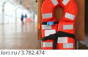 Купить «Спасательный жилет на палубе корабля», видеоролик № 3782474, снято 3 июля 2012 г. (c) Losevsky Pavel / Фотобанк Лори