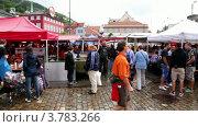 Купить «Много людей ходит по рынку в весенний день», видеоролик № 3783266, снято 5 мая 2012 г. (c) Losevsky Pavel / Фотобанк Лори