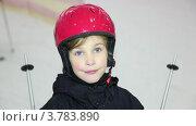 Купить «Девочка в шлеме», видеоролик № 3783890, снято 8 апреля 2012 г. (c) Losevsky Pavel / Фотобанк Лори