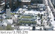 Купить «Автомобили стоят на стоянке возле храма Филиппа, таймлапс», видеоролик № 3785270, снято 26 апреля 2012 г. (c) Losevsky Pavel / Фотобанк Лори
