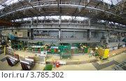 Купить «Работник контролирует производство, таймлапс», видеоролик № 3785302, снято 7 июня 2012 г. (c) Losevsky Pavel / Фотобанк Лори