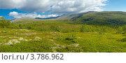 Панорама Хибин недалеко от города Апатиты. Стоковое фото, фотограф Надежда Щур / Фотобанк Лори