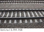 Железнодорожные рельсы. Стоковое фото, фотограф Анна Волик / Фотобанк Лори