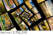Купить «Спираль бесконечности с осенними фотографиями. Коллаж», фото № 3792310, снято 20 января 2018 г. (c) Liseykina / Фотобанк Лори