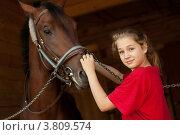 Девочка и лошадь. Стоковое фото, фотограф Масюк Светлана / Фотобанк Лори