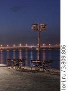 Кафе на набережной. Стоковое фото, фотограф Loboda Dmitriy / Фотобанк Лори