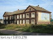 Купить «Старый бревенчатый дом в Курлово», эксклюзивное фото № 3813278, снято 2 сентября 2012 г. (c) Игорь Веснинов / Фотобанк Лори