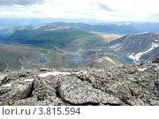 Купить «Вид с горы Колбан. Горный Алтай», фото № 3815594, снято 13 июля 2009 г. (c) Анна Омельченко / Фотобанк Лори