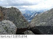 Купить «Вид с горы Колбан. Горный Алтай», фото № 3815614, снято 13 июля 2009 г. (c) Анна Омельченко / Фотобанк Лори