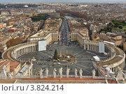 Рим и площадь Святого Петра с купола собора (2011 год). Стоковое фото, фотограф Коршунов Владимир / Фотобанк Лори