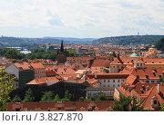 Крыши домов в Праге (2012 год). Стоковое фото, фотограф Чихний Анастасия / Фотобанк Лори